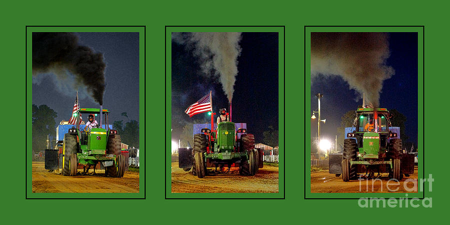 John Photograph - John Deere Tractor Pull Poster by Olivier Le Queinec