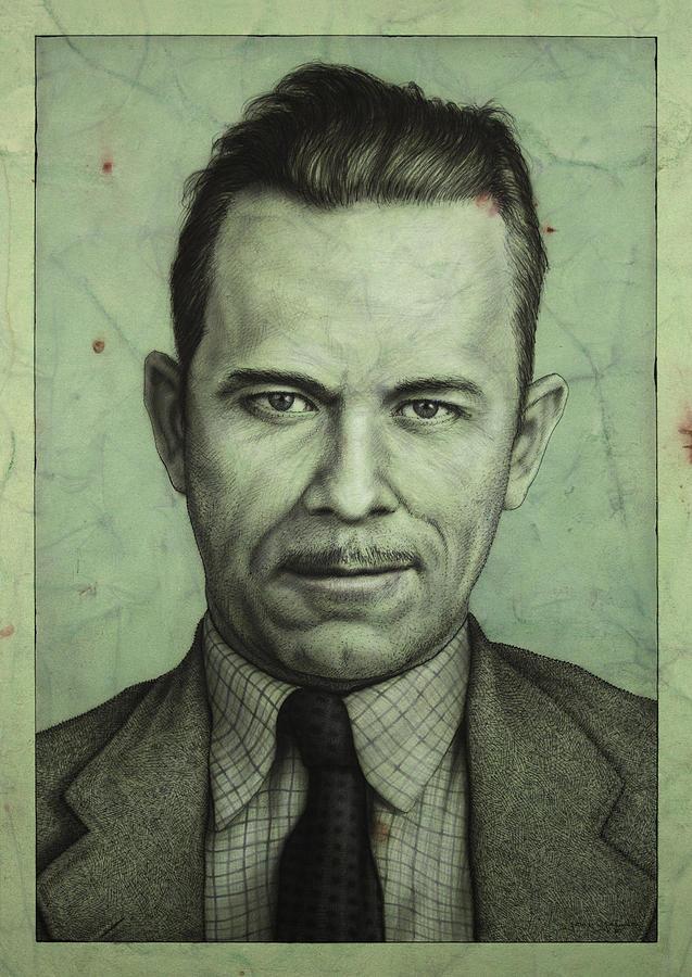 John Dillinger Painting - John Dillinger by James W Johnson