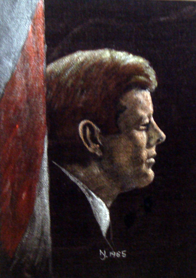 Jfk Painting - John F. Kennedy by Norman F Jackson