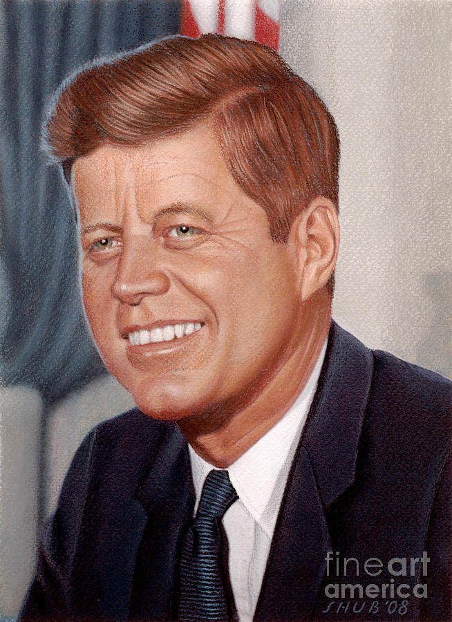 John F. Kennedy Pastel - John F. Kennedy by Stephen Shub