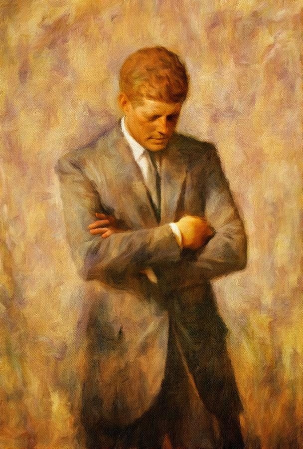 American President Painting - John Fitzgerald Kennedy by Vincent Monozlay