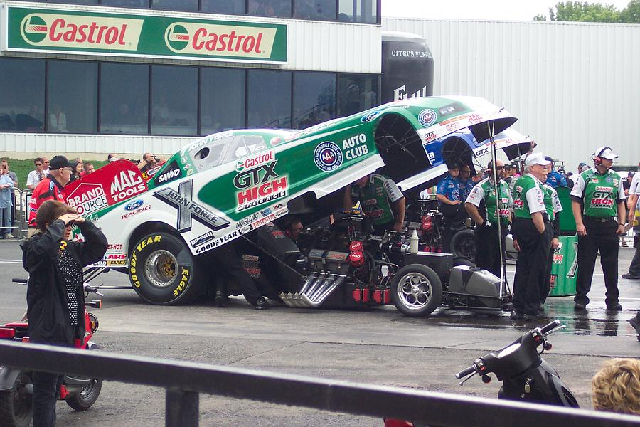 John Force At The Drags Photograph by Matthew Smith