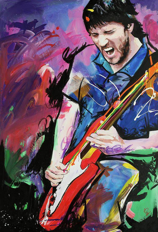 John Frusciante Painting by Richard Day Cartoon Kid Singer