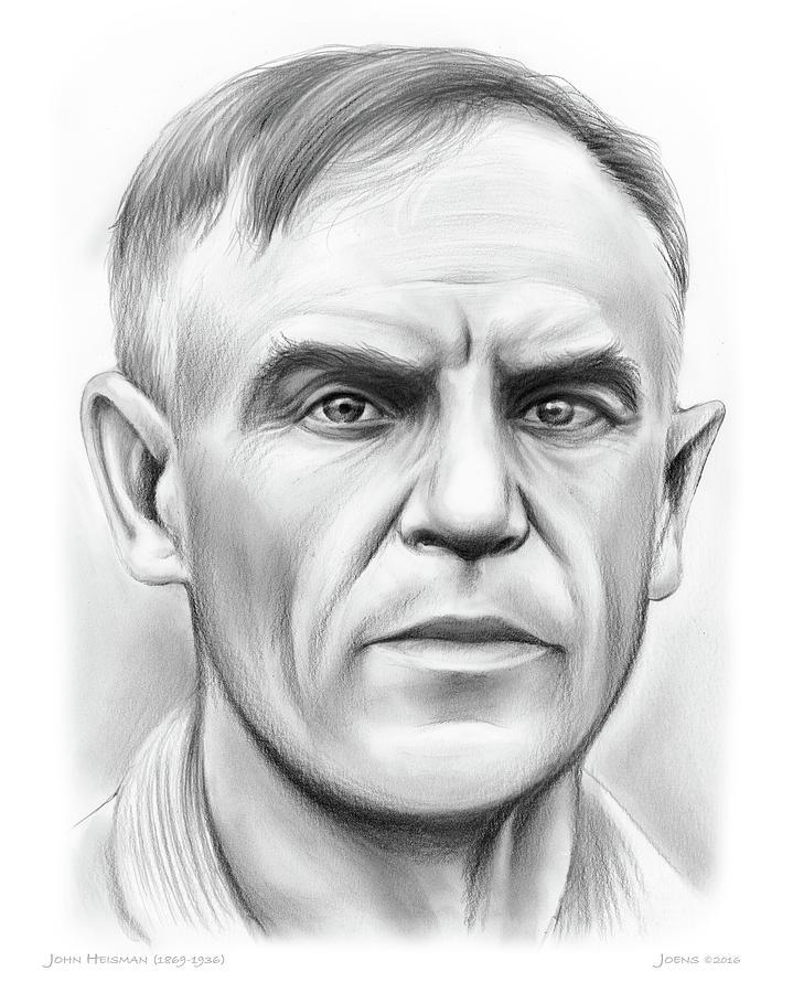 John Heisman Drawing - John Heisman by Greg Joens