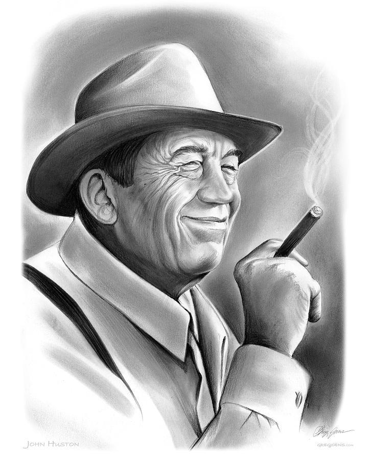 John Huston Drawing