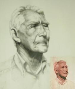 John Drawing by Janet Gioffre Harrington