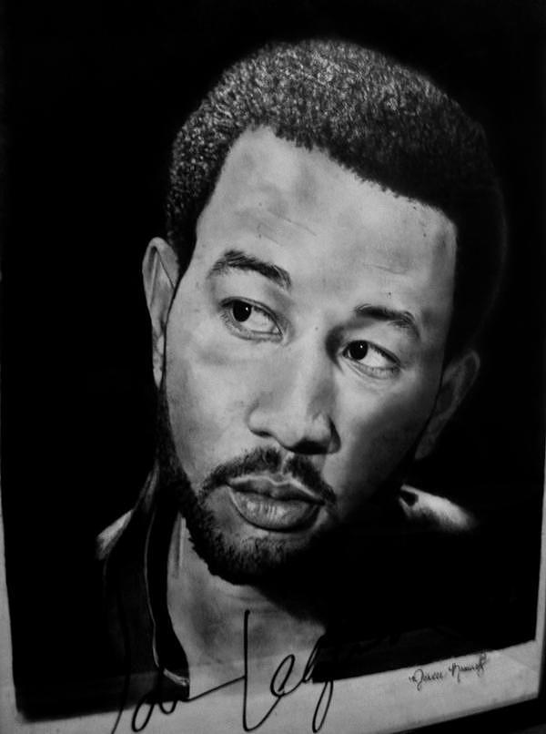 John Legend Drawing - John Legend by Michelle Ramirez