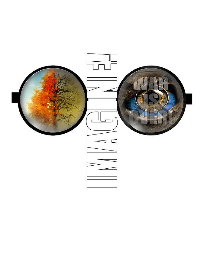 John Lennon Imagine Digital Art - John Lennon - Imagine by Lee Brown