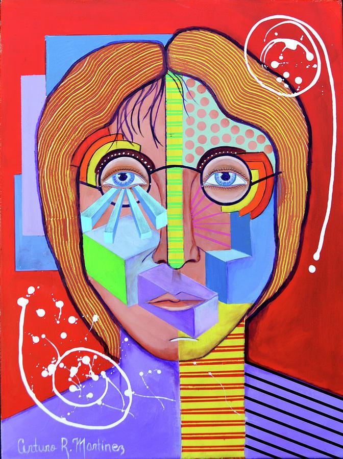 John Lennon Drawing - John Lennon by Arturo Martinez