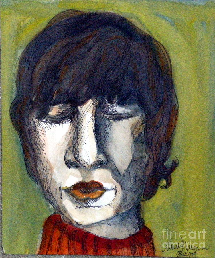 Music Painting - John Lennon As An Elf by Mindy Newman