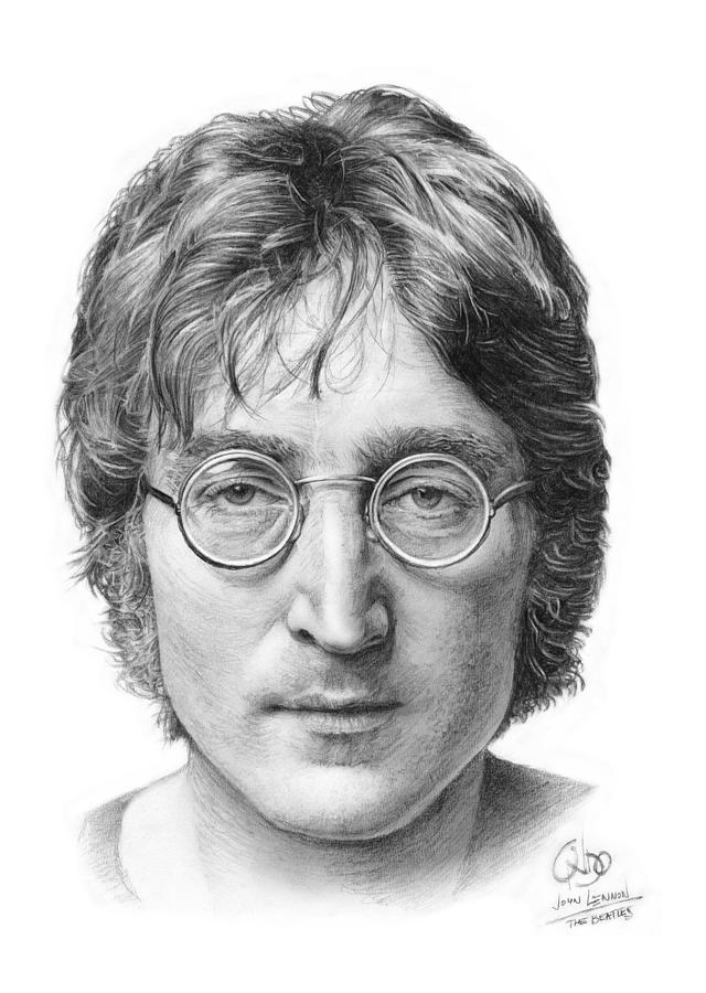 John Lennon Beatles Drawing By Vlado Ondo