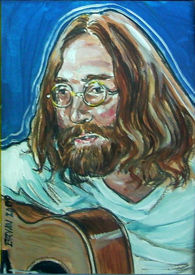 John Lennon Painting - John Lennon by Bryan Bustard