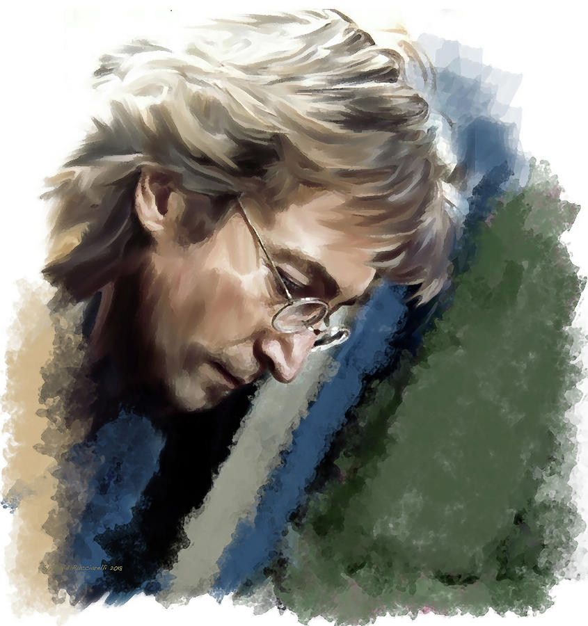 John Lennon Painting - John Lennon Caring To Know by Iconic Images Art Gallery David Pucciarelli