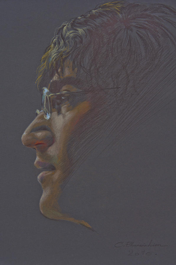 Portrait Painting - John Lennon by Chonkhet Phanwichien