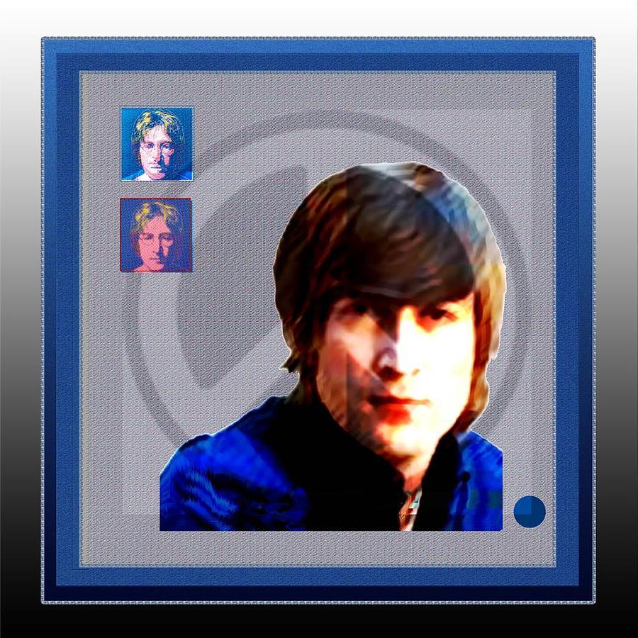 John Lennon Mixed Media - John Lennon by Dennis Flynn
