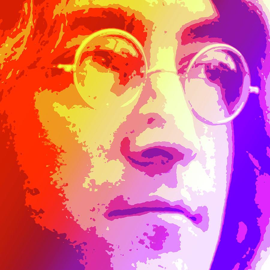 John Lennon Digital Art - John Lennon by Greg Joens
