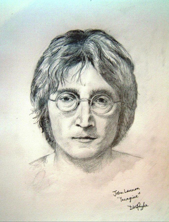 John Lennon Imagine Digital Art By David Pryke