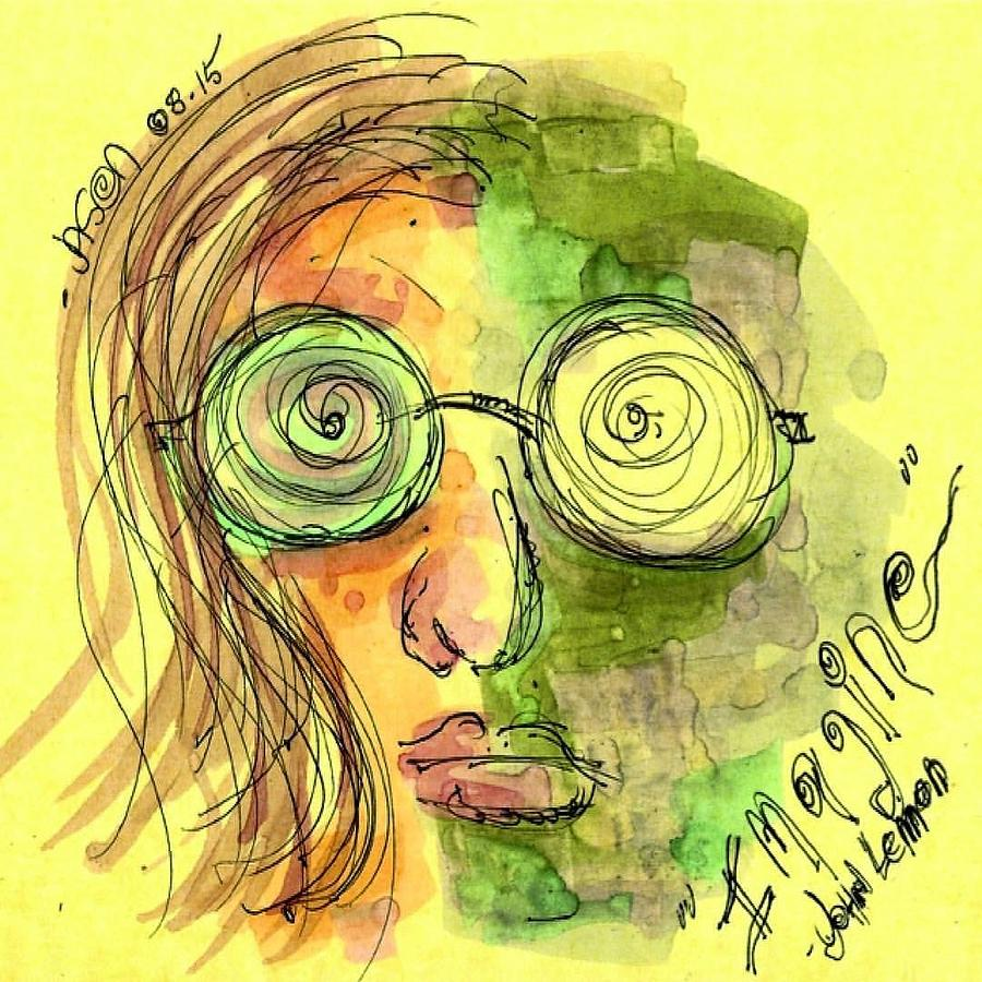 John Lennon Imagine Drawing By Jason Nicholas