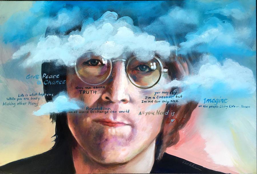 John Lennon Imagine Painting By Robert Korhonen