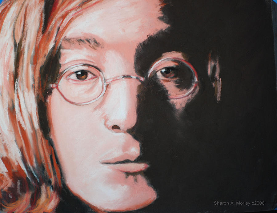 John Lennon Imagine Painting By Sharon Morley