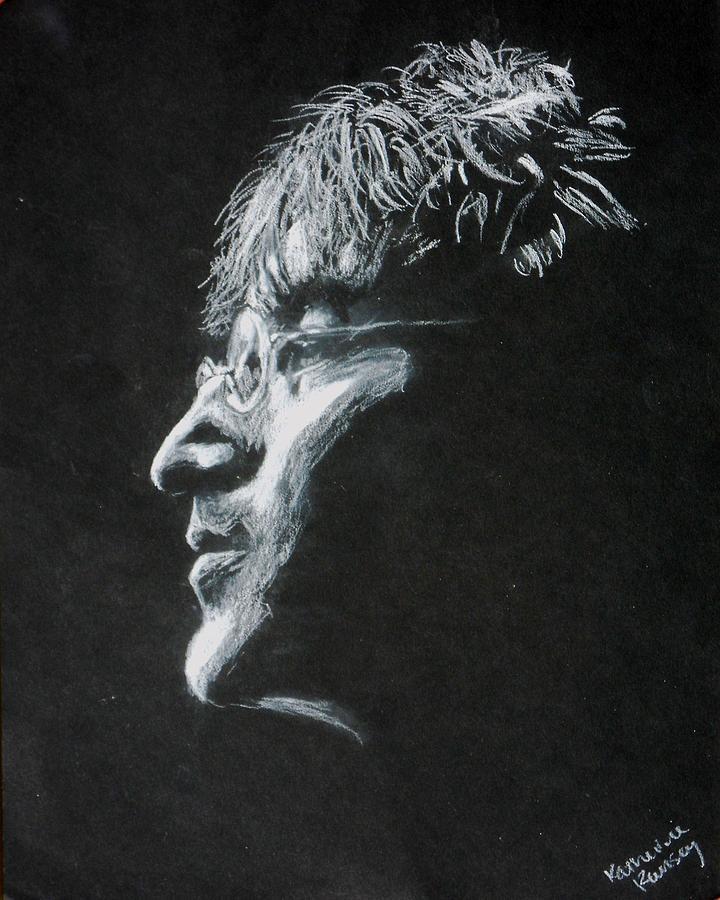 John Drawing - John Lennon by K Ramsey