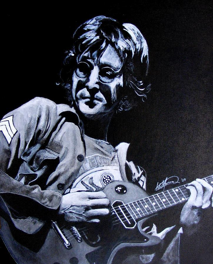 John Painting - John Lennon by Luke Morrison