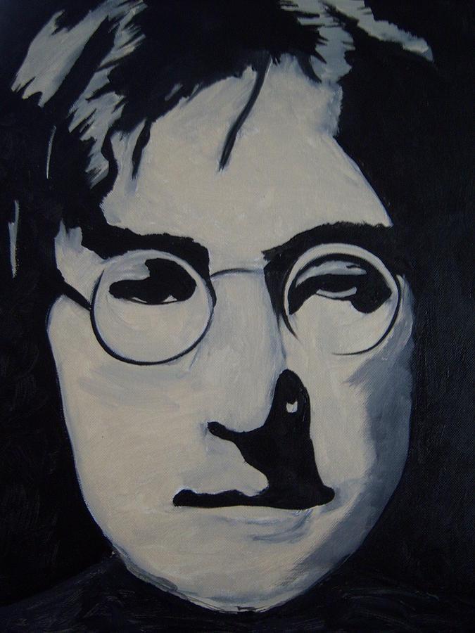 Lennon Painting - John Lennon by Michael  Carlin