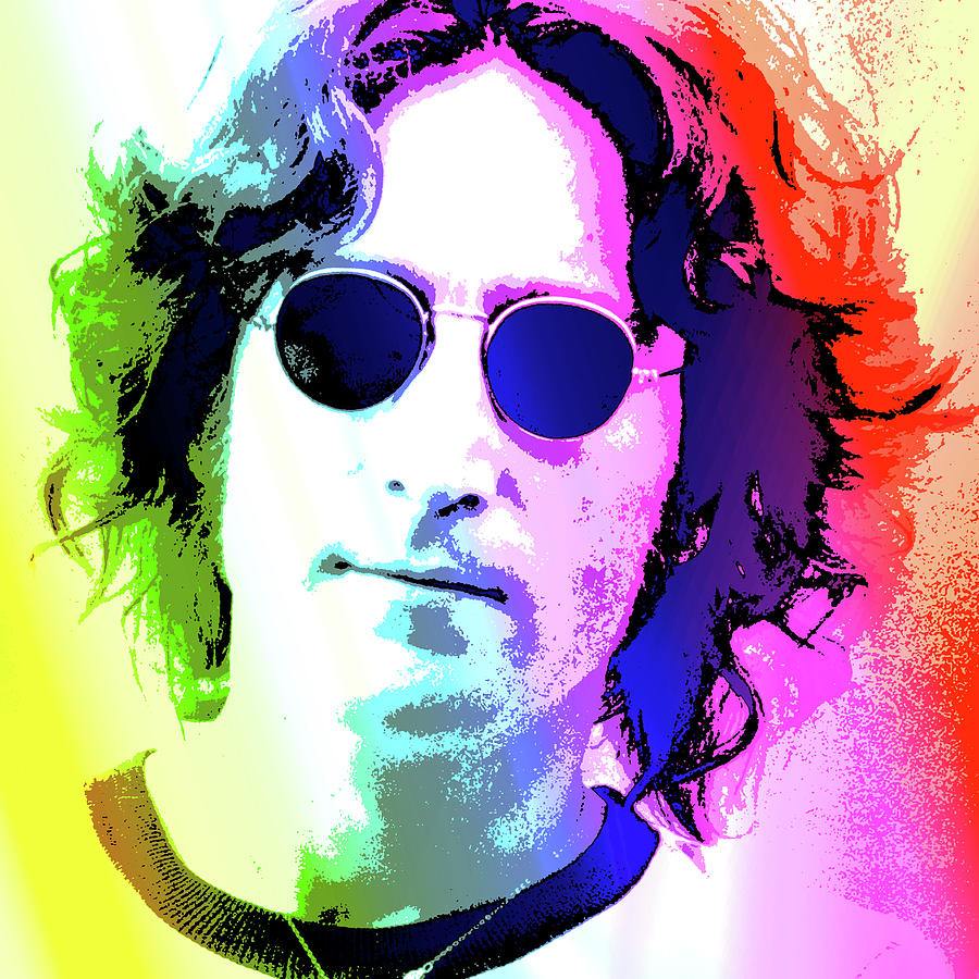 John Lennon - Nyc Digital Art