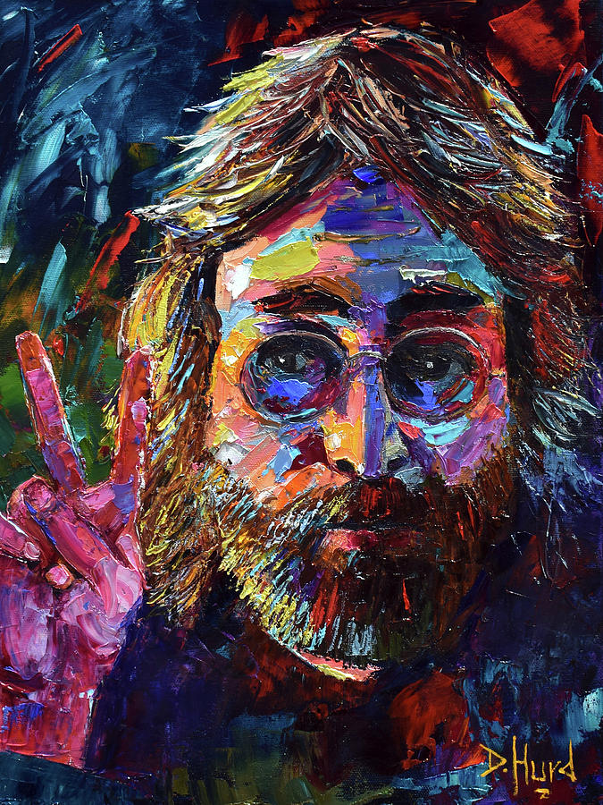 John Lennon Painting - John Lennon Peace by Debra Hurd