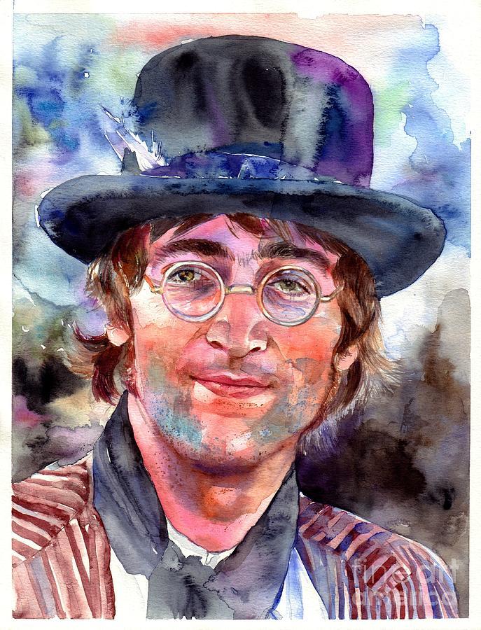John Painting - John Lennon portrait by Suzann Sines