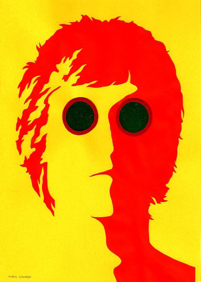Music Mixed Media - John Lennon Red by Mark Cawood