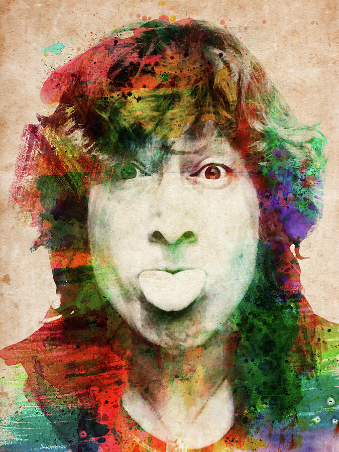 John Lennon Tongue Out Digital Art