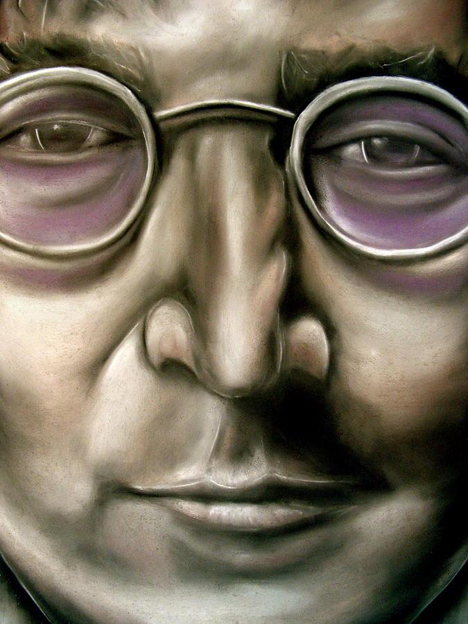 John Drawing - John Lennon by Zach Zwagil