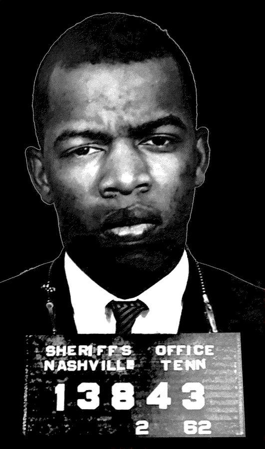American politician digital art john lewis freedom rider mugshot 1962 by otis porritt