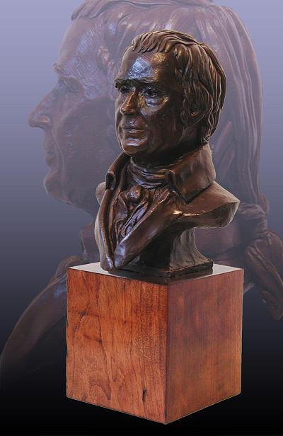 Ben Franklin Sculpture - John Marshall Portrait Bust by John Gibbs