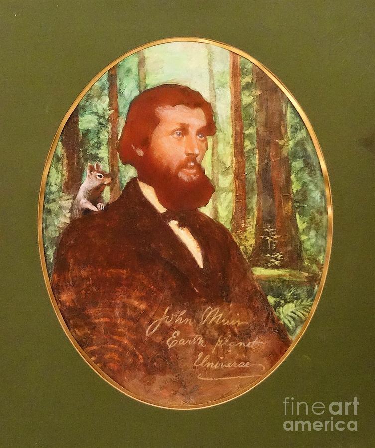John Muir Painting - John Muir With A Chipmunk On His Shoulder by Kean Butterfield