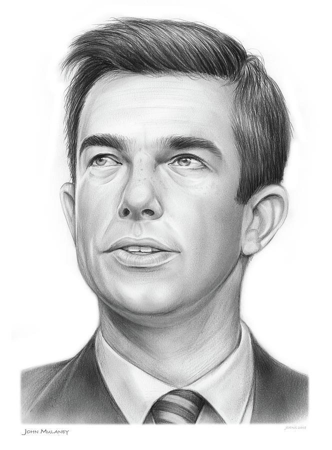 American Drawing - John Mulaney by Greg Joens