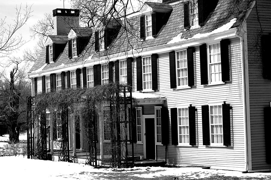 John Quincy Adams Photograph - John Quincy Adams House Facade by Heather Weikel