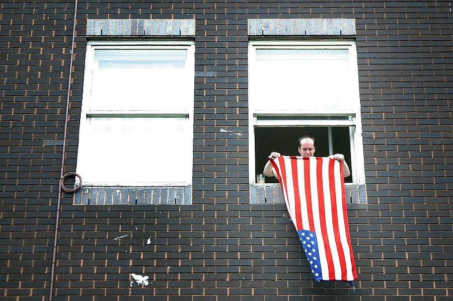 Photographer Photograph - John Waves His Flag 2 by Jez C Self