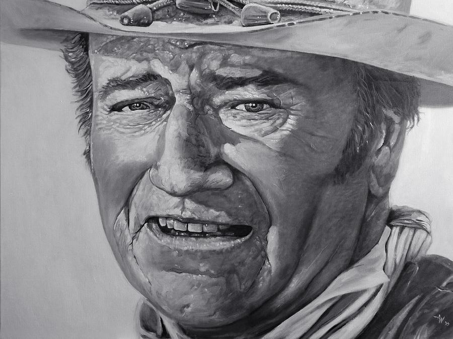 John Wayne Painting - John Wayne by Arie Van der Wijst