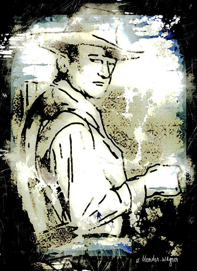 John Wayne Digital Art - John Wayne by Arline Wagner