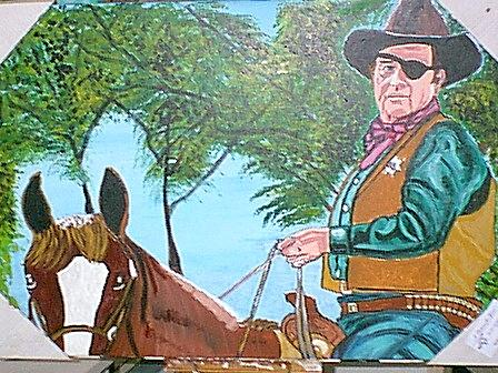 John Wayne Painting by Jeffrey Foti