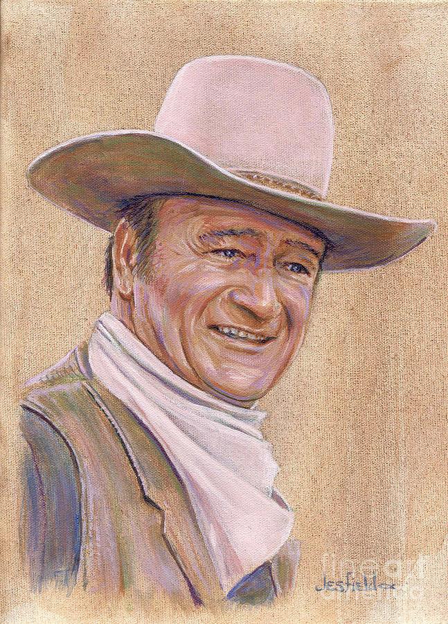 Actor Painting - John Wayne by LeRoy Jesfield