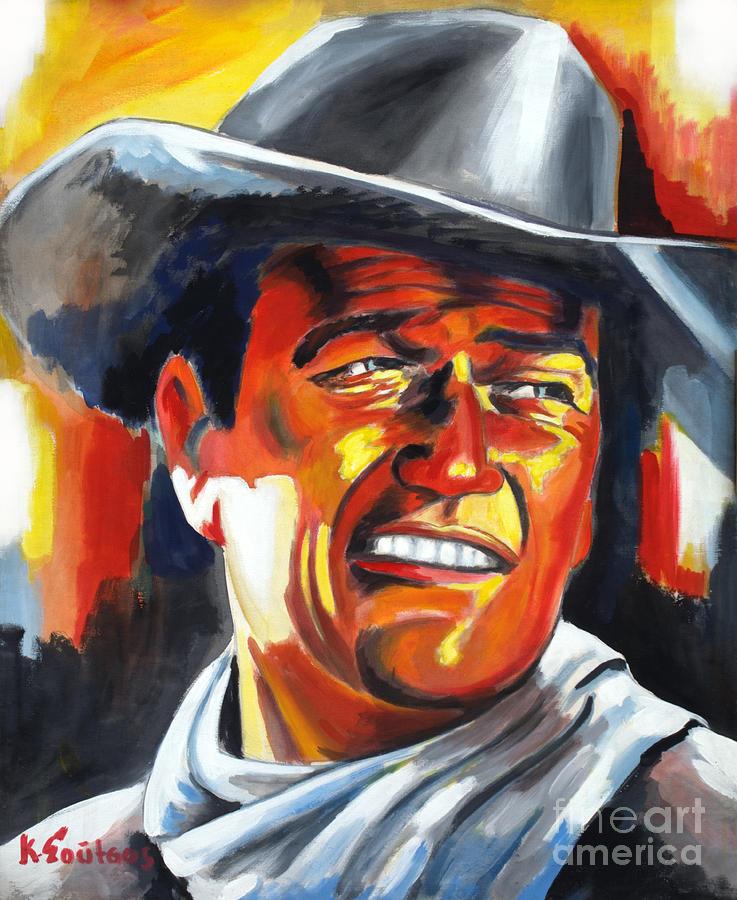 John Wayne painting portrait - Hondo by Star Portraits Art