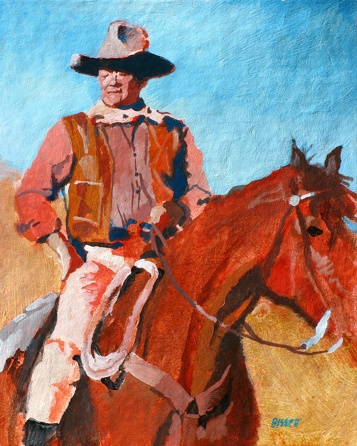 John Painting - John Wayne by Robert Bissett