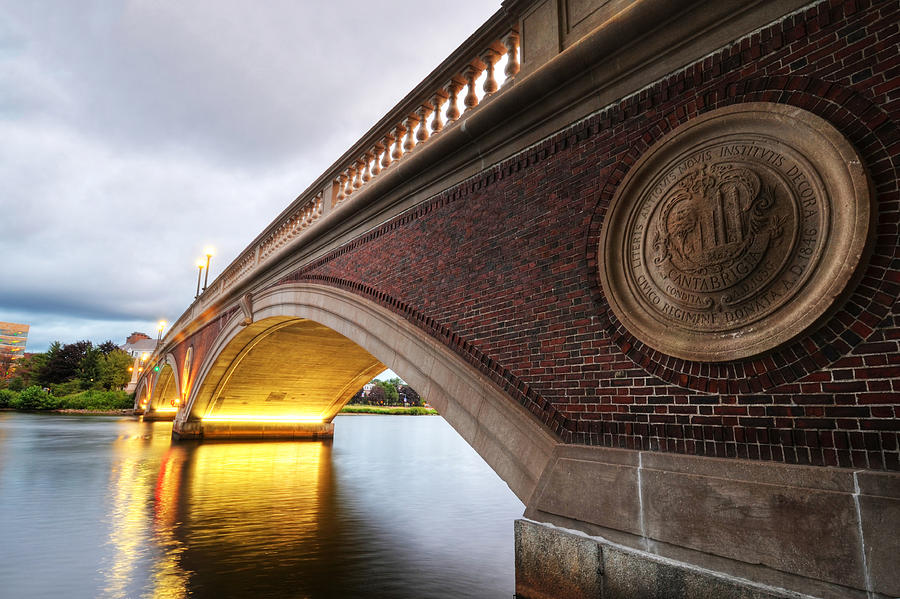 Cambridge Photograph - John Weeks Bridge Charles River Harvard Square Cambridge Ma by Toby McGuire