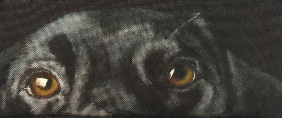 Black Labrador Painting - Johnny by Carol Russell