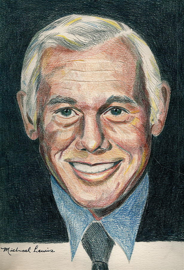 Portraiture Drawing - Johnny Carson by Michael Lewis