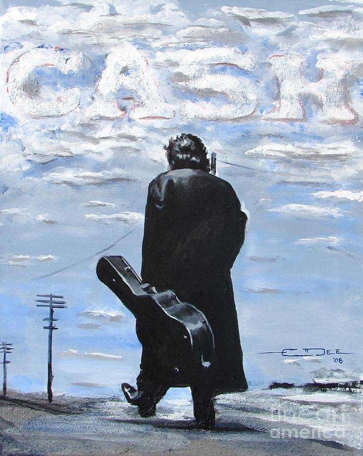 Johnny Cash Painting - Johnny Cash - Going To Jackson by Eric Dee