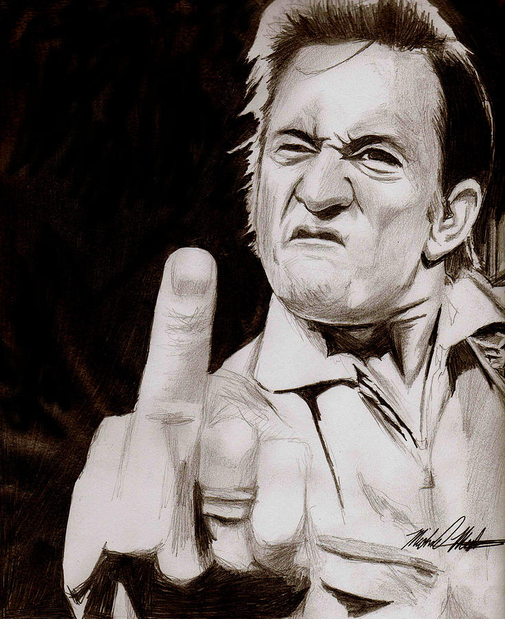 Johnny Cash Drawing - Johnny Cash by Michael Mestas